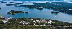 Stockholms Skärgård, flygbild över Djurönäset