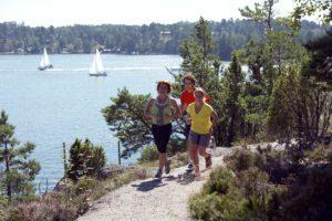jogging med utsikt över Stockholms skärgård