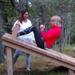 På Djurönäset erbjuder vi mångsidig träning både ute och inne.