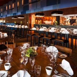 Den fina matsalen på Djurönäset.