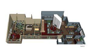Modernt inrett med öga för detaljer och material. Hotellrum, kongressal och samlingsutrymmen under ett och samma tak.